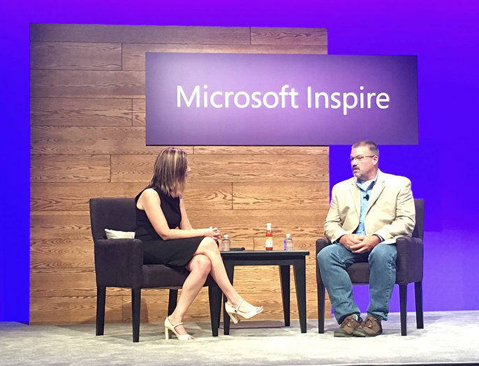 Chris Oakman speaking at Microsoft Event